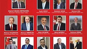 AK Başkan adaylarına coşkulu karşılama