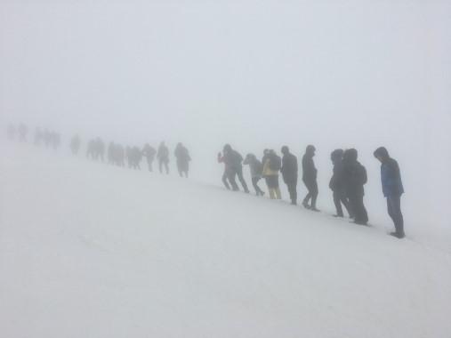 Karacadağ'da Sarıkamış şehitleri için yürüdüler