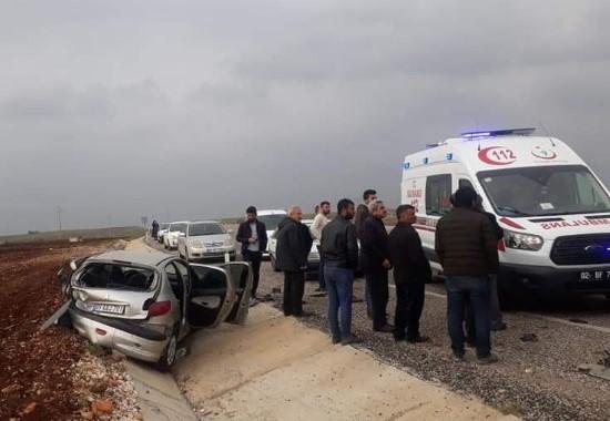 Park halindeki otomobile çarptı: 6 Yaralı