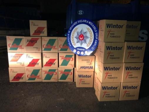 Şanlıurfa'da 13 bin 800 paket kaçak sigara ele geçirildi