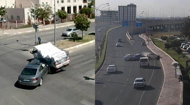 Şanlıurfa'da kazalar şehir polis kamerasında