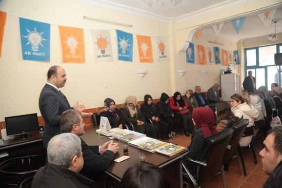Çiftçi, seçim çalışmalarına Bozova'da devam etti