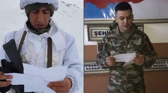 Öğrencilerden kuzey Irak'ta görev yapan askerlere mektup