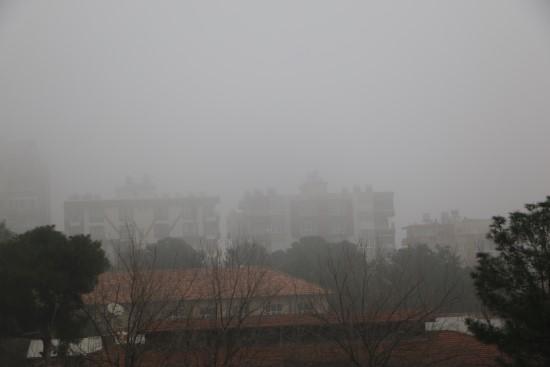 Şanlıurfa ile bazı ilçelerinde sis etkili oldu