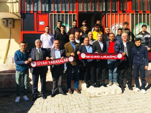 Karaköprü belediyespor yönetiminden taraftara ziyaret