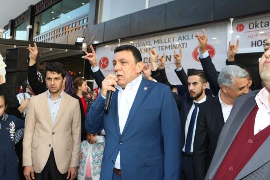 Karaköprü'de cumhur ittifakı seçim bürosu açıldı
