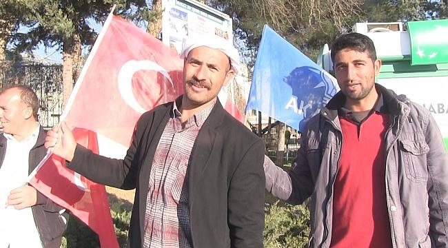 Urfalılar mitinge Recep Tayyip Erdoğan için geldi