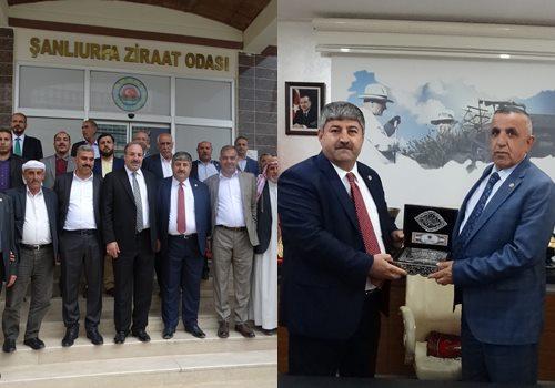 Özcan ve Akay'dan Şanlıurfa Ziraat odasına ziyaret