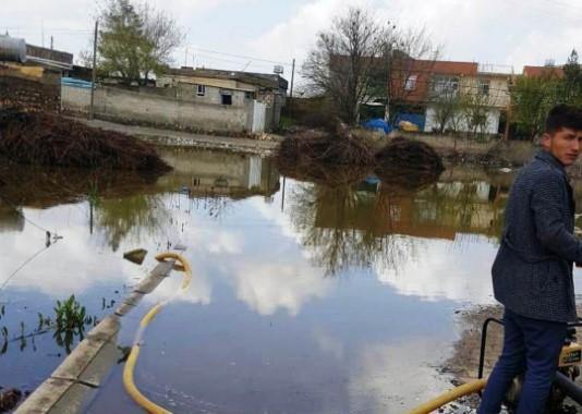 Şanlıurfa'da kırsal mahalle sel sularına teslim oldu