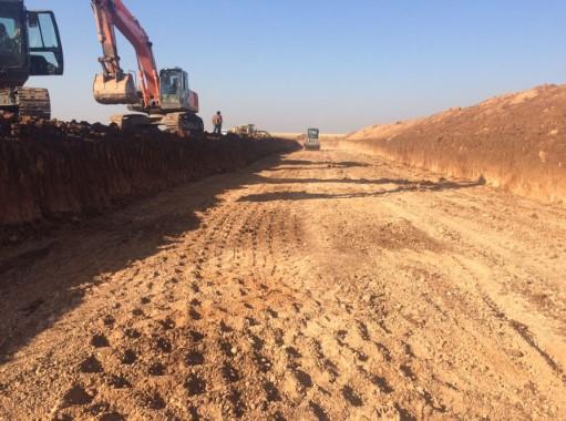 Şanlıurfa'dan Mardin'e uzanan zirai sulama çalışması
