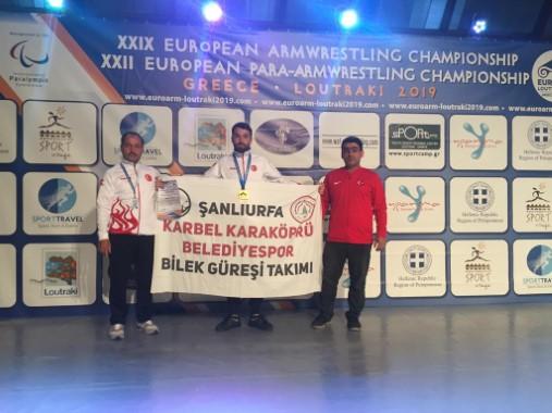 Karaköprü Belediyesporlu sporcu Avrupa şampiyonu