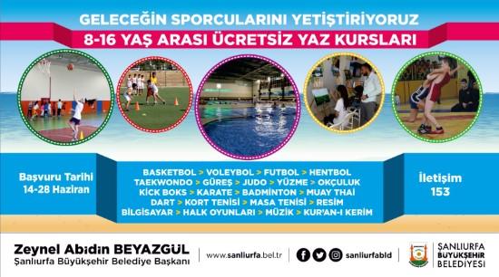 Gençlere 21 branşta ücretsiz yaz kursu