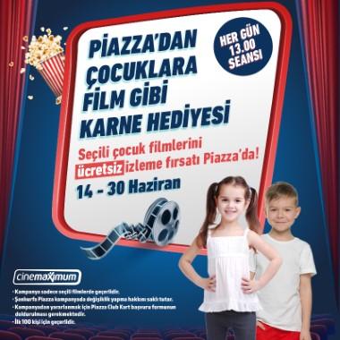 Piazza'dan çocuklara ücretsiz sinema bileti