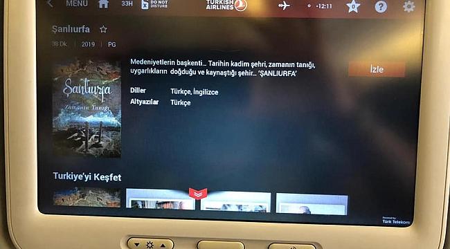 Şanlıurfa Belgeseli THY Media menüsünde
