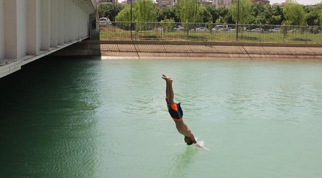 Sulama kanalında tehlikeli serinleme