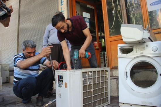 Sıcak hava klima tamircilerinin yüzünü güldürdü