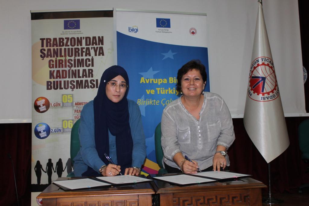 Trabzon ve Şanlıurfalı girişimci kadınlardan kardeşlik protokolü