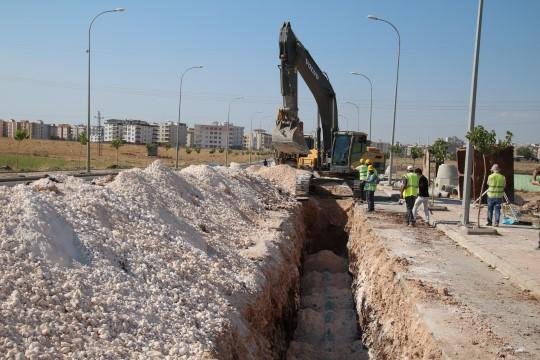 Büyükşehir'den Viranşehir alt yapısı için yoğun mesai
