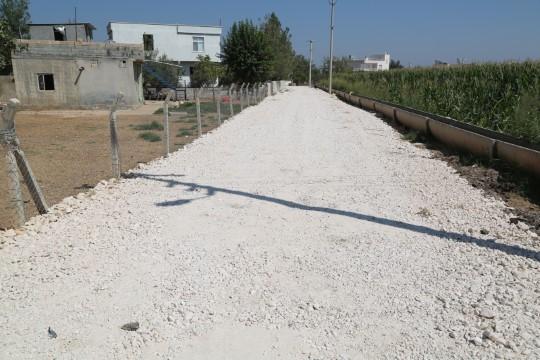 Kısas Mahallesi'nde yol yapım çalışmaları tamamlandı