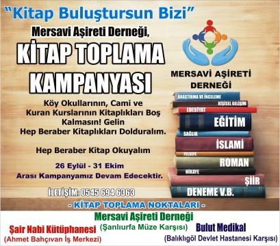 Mersavi Aşireti Derneğinden kitap toplama kampanyası