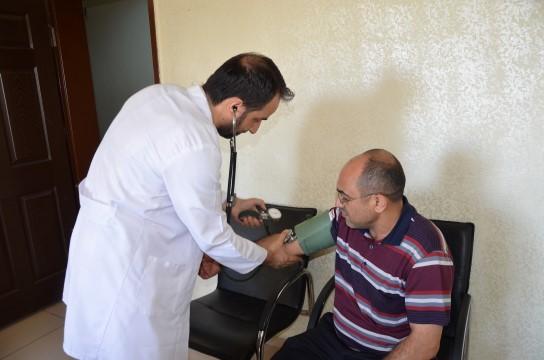 Siverek Belediyesinde sağlık taraması