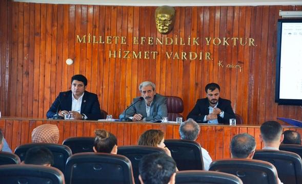 Siverek'te Eylül ayı meclis toplantısı tamamlandı
