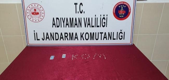 Yabancı uyruklu şahsın aracında narkotik haplar ele geçirildi