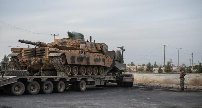 Sınıra tank ve komando sevkiyatı