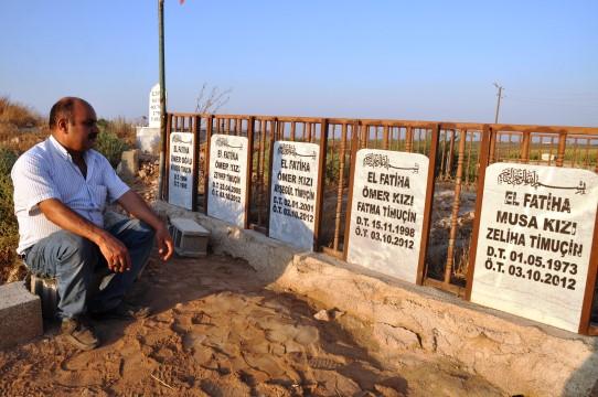 Suriye'de hayatını kaybedenler mezarları başında anıldı
