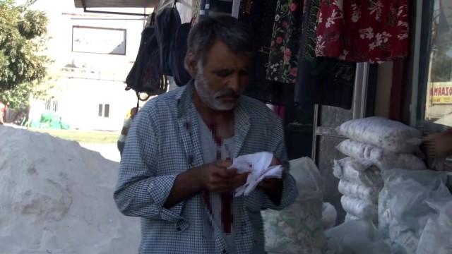 Suriye sınırından atılan havan topu bir eve isabet etti