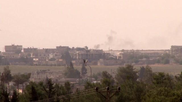 Tel Abyad'ın güneyi yoğun ateş altında