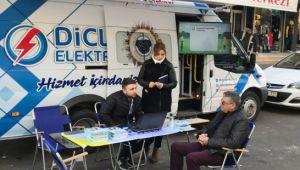 Dicle Elektrik, mobil müşteri memnuniyet aracıyla hizmeti halkın ayağına götürüyor