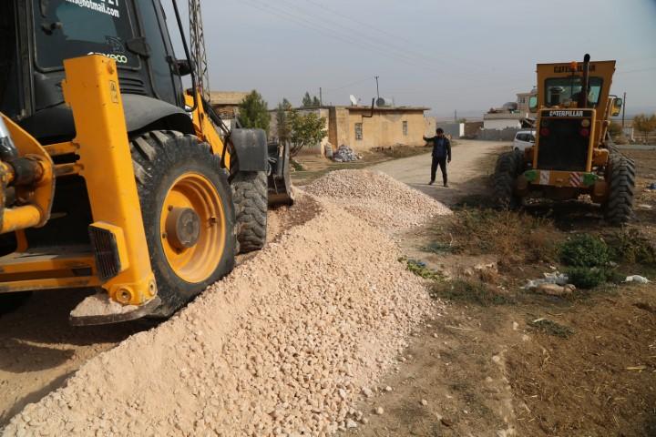 Haliliye kırsalında yol çalışmaları sürüyor(Video)