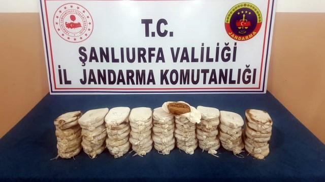 Şanlıurfa'da 10 kilo uyuşturucu ele geçirildi