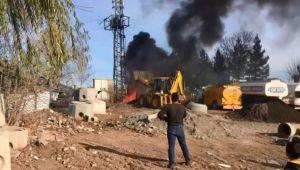 Siverek'te korkutan trafo yangını