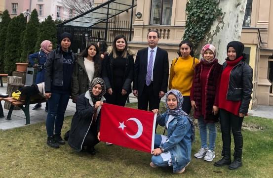 Harranlı öğrenciler Avusturya'da staj yapıyor