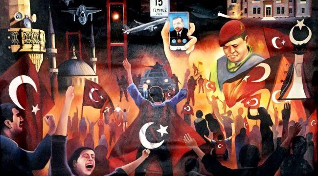 Nihat Kürkçüoğlu'nun fırçasından 15 temmuz