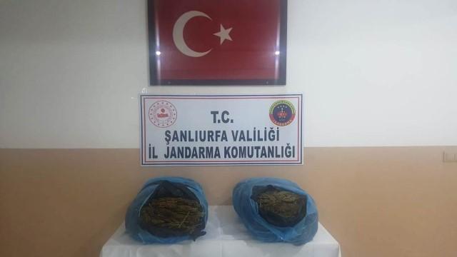 Suriye sınırda 21 kilo uyuşturucu madde ele geçirildi