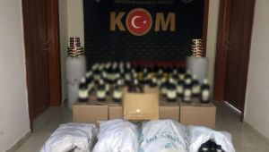 Şanlırfa'da 250 şişe sahte içki ele geçirildi