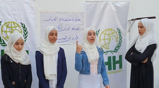 İHH'den Barış Pınarı Harekatı bölgesinde dini eğitim hizmeti