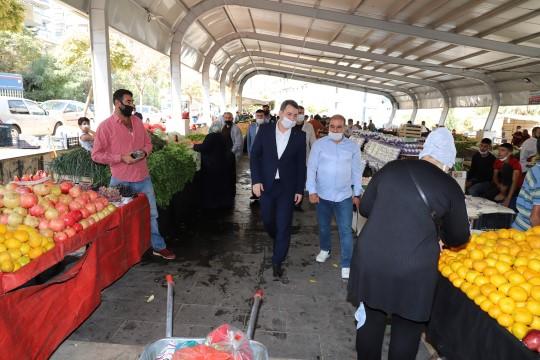 Baydilli pazar esnafını ziyaret etti (Videolu Haber)