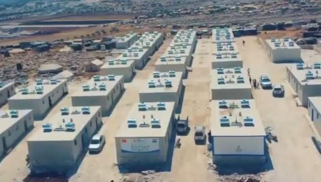 Şanlıurfalı hayırseverlerin desteği ile İdlib'de 90 ev yapılıyor (Videolu Haber)