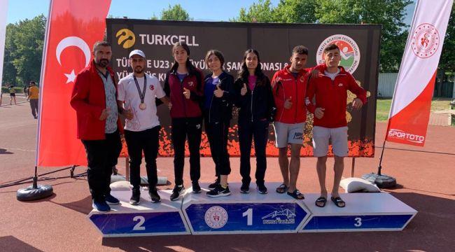 Atletizm'de Hüseyin Can Türkiye ikincisi oldu.