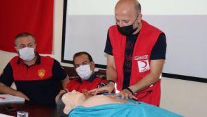 İtfaiye personeline ilk yardım eğitimi