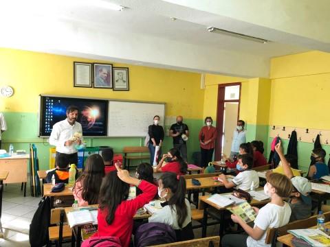Karaköprü'de öğrencilere geri dönüşümün önemi anlatıldı